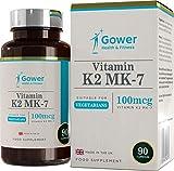 Vitamina K2 MK-7 | 100 microgrammi per capsula | FORMA BIOATTIVA MIGLIORATA DI VITAMINA K | Per salute ossa, sangue e cuore | 90 capsule - 3 mesi di fornitura
