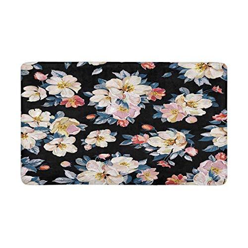 Eleganz Kirsche und Jasmin Zweig blühenden Apfelbaum Fußmatte Teppich Fußmatten Schuh Schaber Fußmatte rutschfeste Home Decor, Gummi sichern -