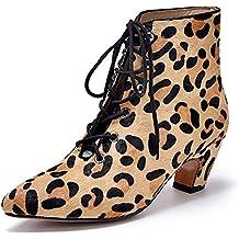 Lotus Bluma Lep leopardo Womens Tobillo Botas, color, talla 35.5