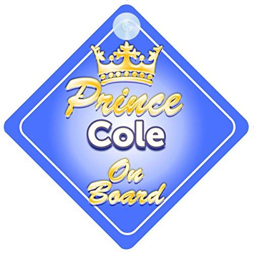Crown Prince Cole sur planche personnalisé pour bébé/enfant garçons voiture Panneau