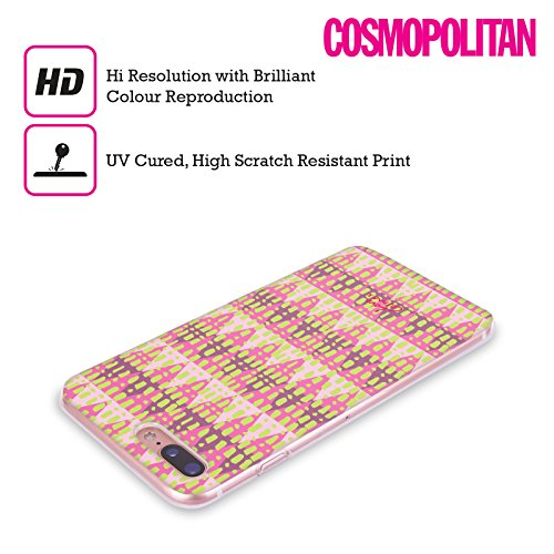 Official Cosmopolitan Parallel Aztec Brights Soft Gel Case for Apple iPhone X Triangles
