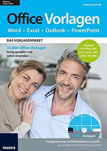 Franzis Verlag 10.000 Office Vorlagen: Fertig gestaltete und sofort einsetzbare Vorlagen für Office 2010, 2013 und 365