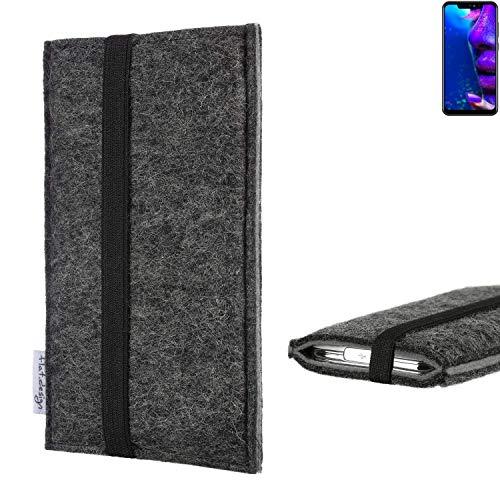 flat.design Handyhülle Lagoa für Allview Soul X5 Pro   Farbe: anthrazit/grau   Smartphone-Tasche aus Filz   Handy Schutzhülle  Handytasche Made in Germany