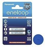 2x Panasonic eneloop AAA Baterías Micro 800mAh schnellladefähig, sin efecto memoria, 2100x recargable + Online Sale Shop ficha para el carro de la compra
