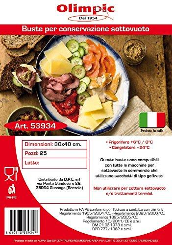 Olimpic 53934 Busta Sottovuoto per Alimenti