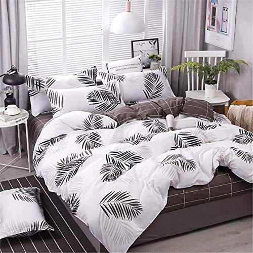 wäsche aus ägyptischer Baumwolle Set Königin King Size Bettbezug Set B 150x200cm ()