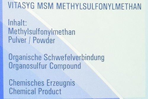 Vitasyg MSM Pulver – Methylsulfonylmethan, 99.9 Prozent Reinheitsgrad, 1er Pack (1 x 1 kg)