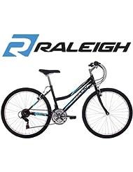 """Raleigh Activ Figaro 26""""-Bicicleta para mujer, color negro y azul"""