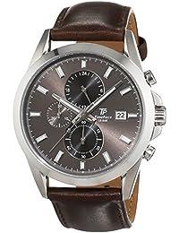 Time Piece Herren-Armbanduhr Classic Chronograph Quarz Leder TPGS-20176-21L