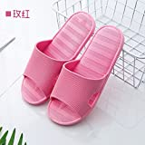 fankou Slippers female summer home en-suite bathroom non-slip soft water leaks out of the home sweet home cool slippers male couples,37-38, in red