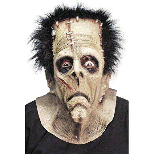Maschera da frankenstein gomma faccia intera completa mostro zombie halloween carnevale cicatrici