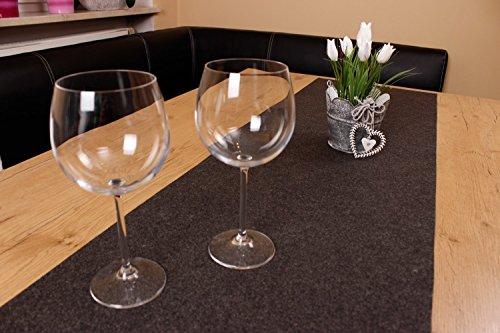 XXL Tischläufer Tischband aus edlem Filz, modernes dunkelgrau (+ weitere Farben), ca. 40x150cm, abwaschbar. Original von Luxflair®