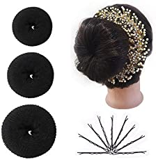Majik Combo Of Bob Pins, Hair Donut And Hair Gajra For Girls And Women, 15 Gram, Pack Of 1
