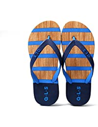 Hippolo Damen Sandalen Rutschfeste PVC-Druck Flip-Flops Männer Damen Strand Kinder Hausschuhe Startseite (39, Navy blau)
