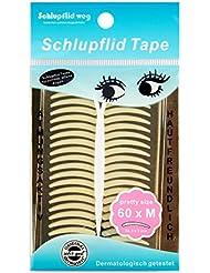 SCHLUPFLID TAPE pretty size (M) - Augenlidliftig ohne OP [60Paar], Schlupflid Streifen für schöne offene Augen, Kleine Schönheitshelfer für hängende Augenlider