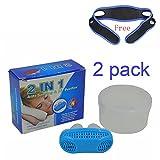 Tappo magnetico per non russare in silicone per il naso, notturno, dispositivo di pulizia dell'aria (colore casuale), White, 2 pezzi