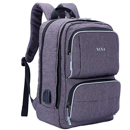 XQXA 17 Zoll Laptop Rucksack Backpack Schulrucksack mit USB-Ladeanschluss für bis zu 17.3 zoll Laptop Notebook Computer Arbeit Campus Studenten Outdoor Reisen Wandern