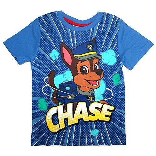 Paw Patrol Kinder T-Shirt Jungen Kleine Helden | Größe 98-128, Größe:104, Farbe:Hellblau