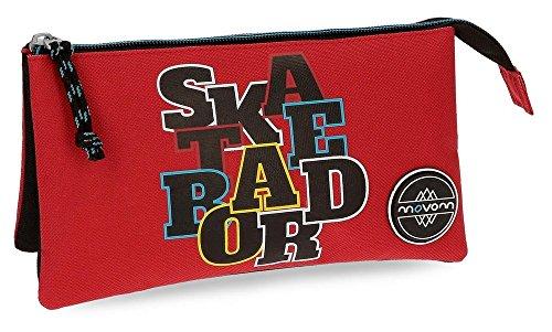Movom Skateboard Neceser de Viaje, 22 cm, 1.32 litros, Rojo