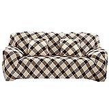Souarts Sofabezug elastische Stretch SofaBezug mit 4 verschienden Größe Bezug Couchsessel Stretch Husse/Sofa Bezug/Sofabezüge /Sofa Husse (2 Sitzer 145-185cm, Kariert)