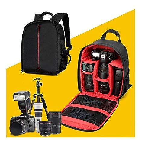Kamera Taschen, Transer® 1pc Kamera Rucksack Bag Wasserdichte DSLR Tasche für Canon für Nikon für Sony, Camera Bags, rot