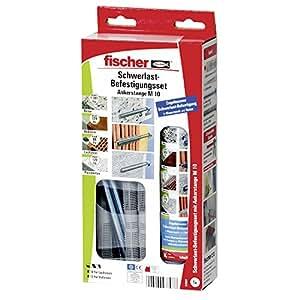 Fischer heavy duty fixing kit 300 t sbs set m 10 097807 for Kit inferriate fischer