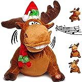 Unbekannt 2 Stück _ XL - singende & tanzende - Elche / Rentiere - I Feel Good - Plüschtier mit Sound & Bewegung - 29 cm - aus Stoff / Plüsch - Weihnachtsmann / Hirsch -..
