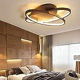 Lampada a led moderna creativa anelli per soffitto per soggiorno camera da letto lustri acrilico plafoniera a led apparecchi per illuminazione Warmwhite D56 * 8Cm @ D87 * 10Cm_Warmwhite