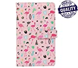 #3: Instax Album for 8,8+, 9, 70, 7S, 90, 50, 25S (96 Pockets) PU Leather Pink Flamingo Design Instax Mini