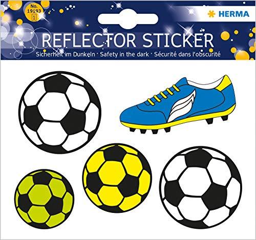 Herma 19193 Reflektor (Aufkleber Fussball, permanent haftend, für Kinder)