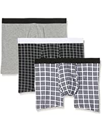 New Look Mono Check Brief Pack, Bóxer para Hombre