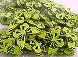 Grüne Schmetterling Figuren aus Holz. 3 x 4cm. 72 Stück