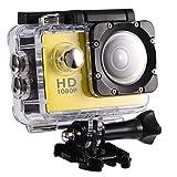 """wasserdichte Kamera DV,1080P Unterwasserkamera, Full HD Sportkamera Action Kamera wasserdichte mit 2"""" LCD-Bildschirm (Gelb) -"""