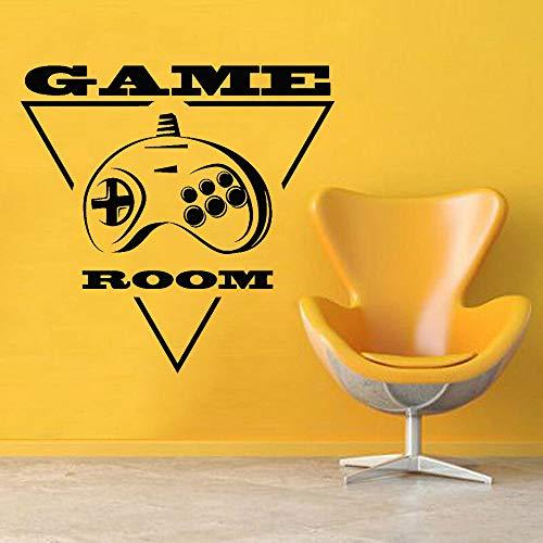 zhuziji Spielerzimmer Aufkleber Joystick Videospiele Konsole Vinyl Wandtattoo Wohnzimmer Schlafzimmer Dekor Zubehör Kunstwand Removab 57x57 cm