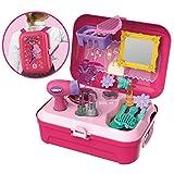 BOWA Kunststoff Schönheit Spielzeug Kinder Prinzessin Mädchen Rollenspiel Set Rucksack Koffer - 21 Stücke