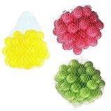 300 Bälle für Bällebad gemischt mix mit hellgrün, pink und gelb