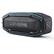 Altavoces Bluetooth, ZENBRE D6 2x5W Altavoces Portátiles Inalámbricos V4.1 con IPX6 Impermeable, 18 Horas de Reproducción, Sonido Súper Fuerte con Resonador de Graves (Azul)
