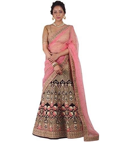 Indian Ethnicwear Bollywood Pakistani Wedding Wine A-Line Lehenga Semi-stitched-DIVISL022
