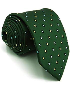 Shlax y ala Mens corbatas lunares verde oscuro lazos para hombres negocio