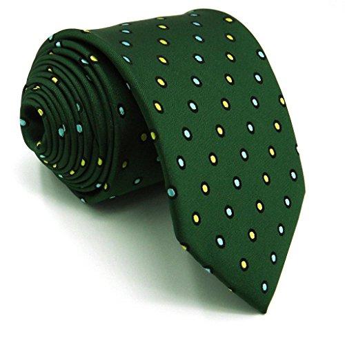 Corbatas lunares verde pistacho