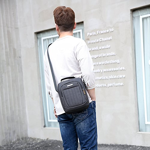 Outreo Borse a Spalla Tablet Borsa Tracolla Vintage Borsa Uomo Sacchetto Viaggio Borsetta Casuale Borsello per Sport Messenger Bag Viola