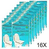 Toilet Seat Cover - Servizi igienici Protezione sedile - Travel Pack copriwater usa e getta di carta, tamponi, sedili WC pad 160St. + 2 pacchetti gratuiti (180) di Steyocare