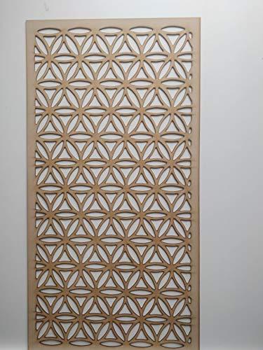 LaserKris Heizkörper Schrank Wall Dekorative unfinish screening-Grille- Perforiert MDF-Platte (4x 2) -