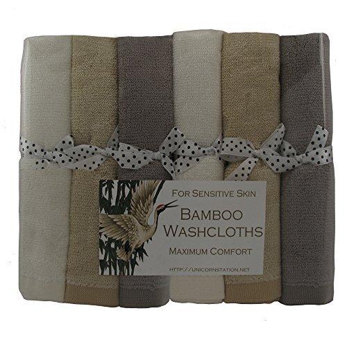 Einhorn Station Bambus Waschlappen für Ultra-sensitiver Haut. Maximiert Haut Pflege Komfort. Aufmerksames Geschenk für krebspatienten. Multicolor. multi