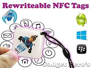 Gadget Hero's Rewritable Programmable NFC Tag Waterproof Keychain.