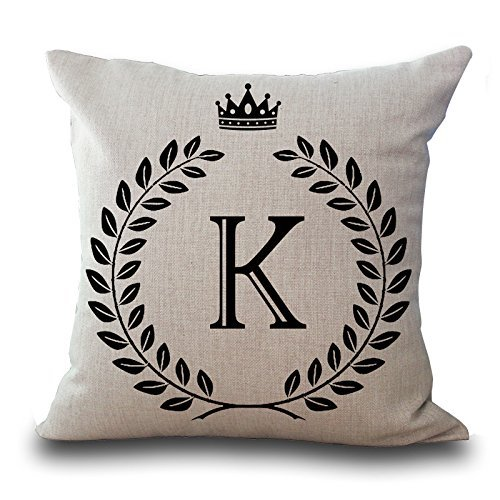Angelcases English Alphabet Letter Pillow Case Cushion Covers