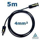 5 m Reiter-Solar SKBS4005 Solarkabel 4 mm - PV Verbindungs-Kabel rot oder schwarz mit Buchse und Stecker MC4 kompatibel, Farbe:Schwarz