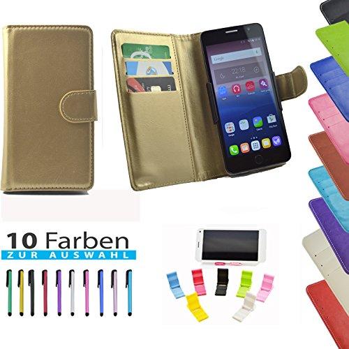 5 in 1 set ikracase Slide Hülle für PHICOMM ENERGY 4S Smartphone Tasche Case Cover Schutzhülle Smartphone Etui in Gold