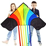 Huge Rainbow Kite For Children And Adults - Very Easy To Fly Kite
