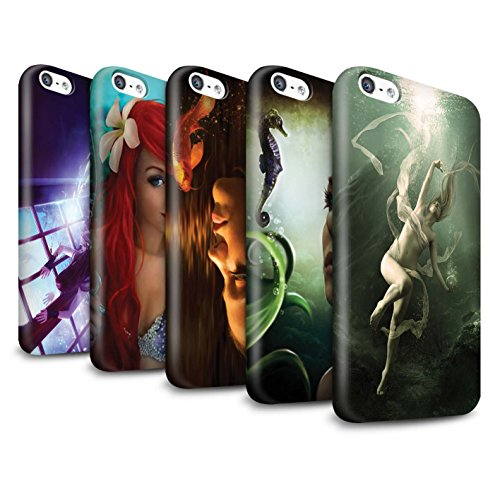 Officiel Elena Dudina Coque / Clipser Brillant Etui pour Apple iPhone 5C / Sonrisas/Dauphin Design / Agua de Vida Collection Pack 7pcs